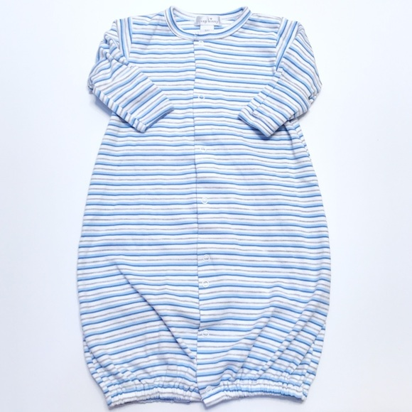 Kissy Kissy One Pieces | Blue Stripe Converter Gown | Poshmark